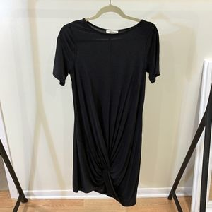 Short Sleeve T-Shirt Dress With Twist Front Detail